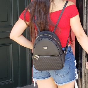 Guess Black Quilted backpack